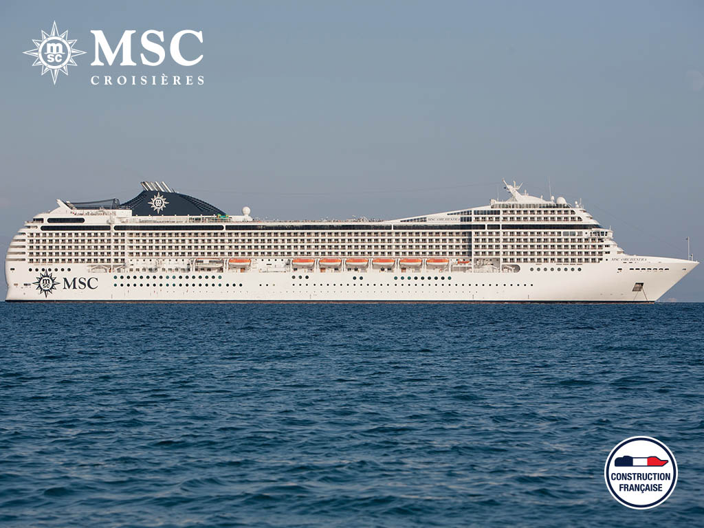 MSC ORCHESTRA - Méditerranée - CROISIÈRE AU DÉPART DE BARI (ITALIE)
