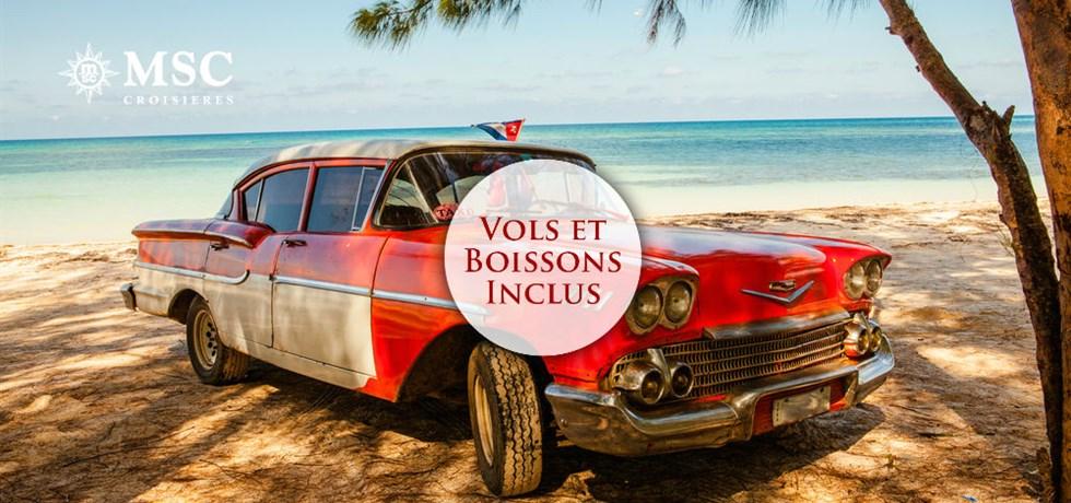Vols et boissons incluses* Croisière Cuba et Caraïbes: Jamaïque, Îles Caïmans, Mexique