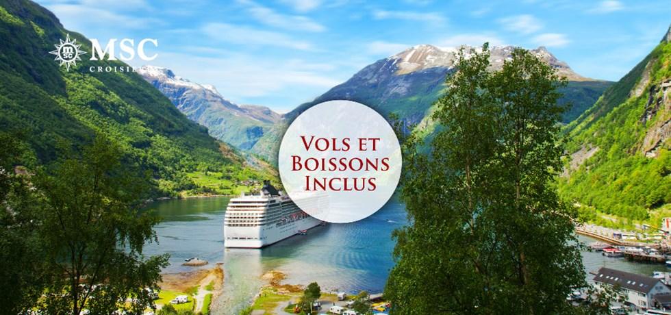 Vols et boissons incluses* Croisière Merveilles des Fjords Norvégiens OFFRE PROLONGEE