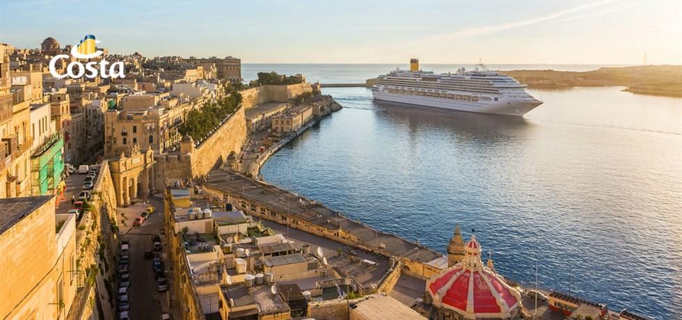 A SAISIR ! Croisière Italie, Malte, Espagne - Transfert aller Nice/Savone inclus