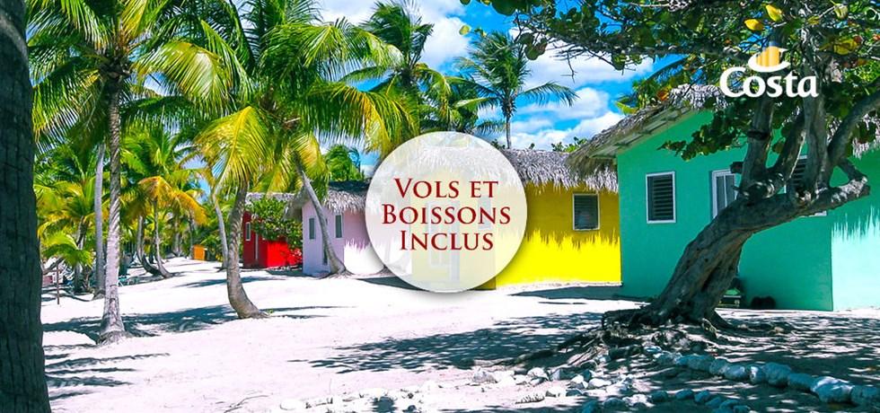 -50% sur le 2ème passager & boissons incluses* Vols inclus Croisière aux Antilles