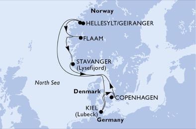 Splendeurs norvégiennes - CROISIÈRE AU DÉPART DE KIEL (ALLEMAGNE)
