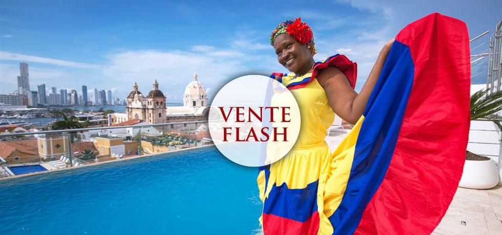 Séjour Deluxe Vue Mer 5* dès 1299€ TTC VOLS INCLUS ! Carthagène : Ville Coloniale, Couleurs Caraïbes et Salsa