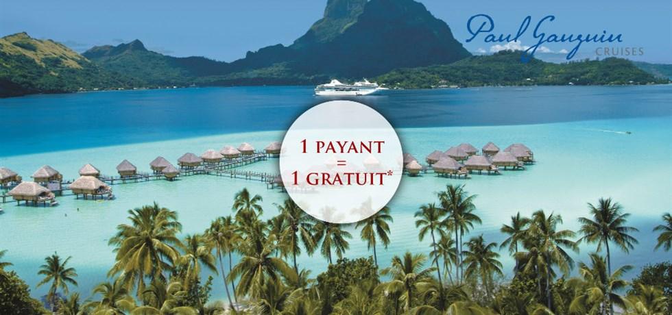 1 PAYANT=1 GRATUIT** VOLS INCLUS Croisière 5* en luxe en Polynésie All Inclusive DERNIERES CABINES DISPONIBLES !