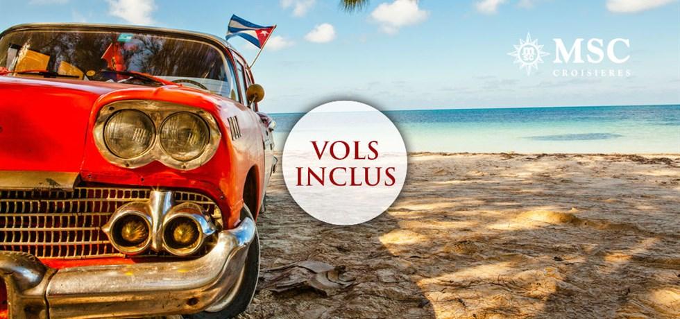 DERNIERE MINUTE : 2 semaines pour le prix d'une* Vols inclus 15 jours Croisière Cuba et Caraïbes - 4 jours complets au coeur de la Havane ! IL RESTE QUE 4 CABINES ! !