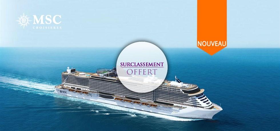 SURCLASSEMENT EN BALCON* A bord du Tout Nouveau et Spectaculaire MSC Seaview 5*