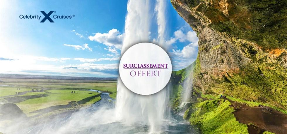 SURCLASSEMENT EN BALCON Deluxe OFFERT* ! Vols inclus 11 jours Croisière de Luxe en Islande OFFRE LIMITEE