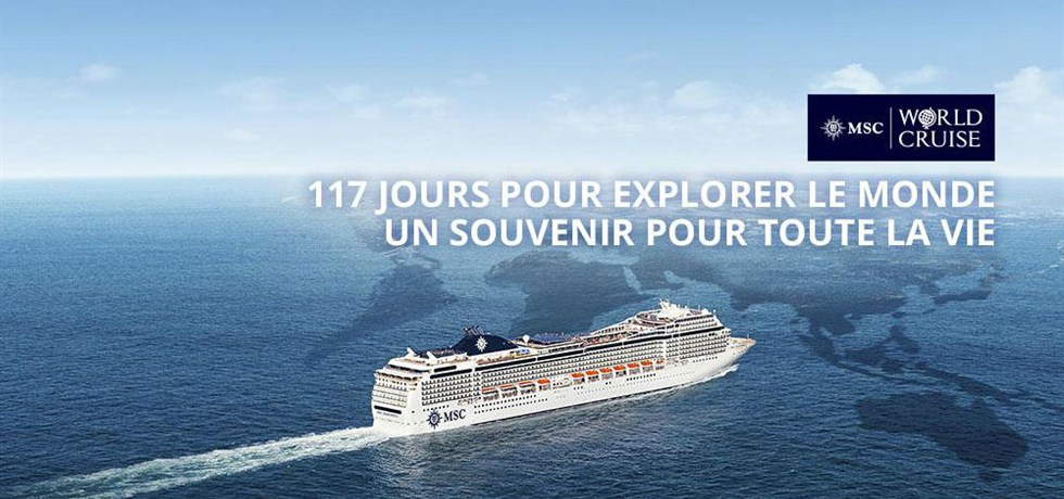 Boissons & 15 excursions offertes*! Tour du Monde 117 jours 2020 Marseille/Marseille
