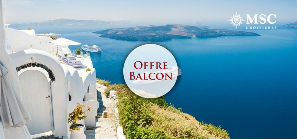 Forfait Boissons Tout Inclus offert en Cabine Balcon** ! Croisière Iles grecques & Monténégro : Santorini, Corfou, Kotor