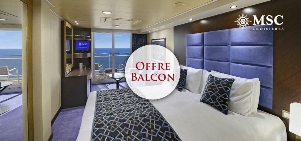 Forfait Boissons Tout Inclus offert en Cabine Balcon** ! 10 jours Croisière Espagne, Maroc, Portugal