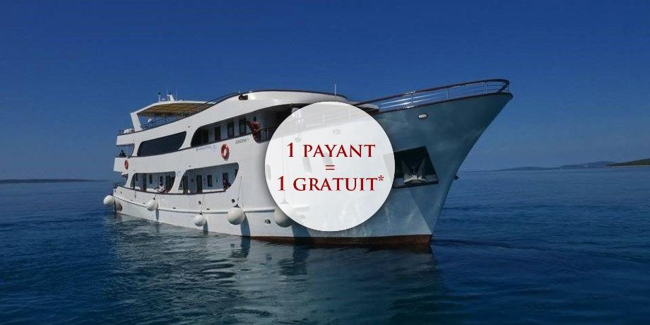 Exclusif 1 payant=1 gratuit Vols Inclus ! Croisière en Yacht en Croatie.