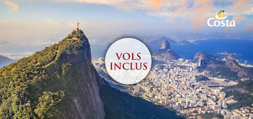VENTE FLASH ST VALENTIN jusqu'au 19 février ! Vol inclus 18 jours Transatlantique Argentine, Brésil et Canaries en mars
