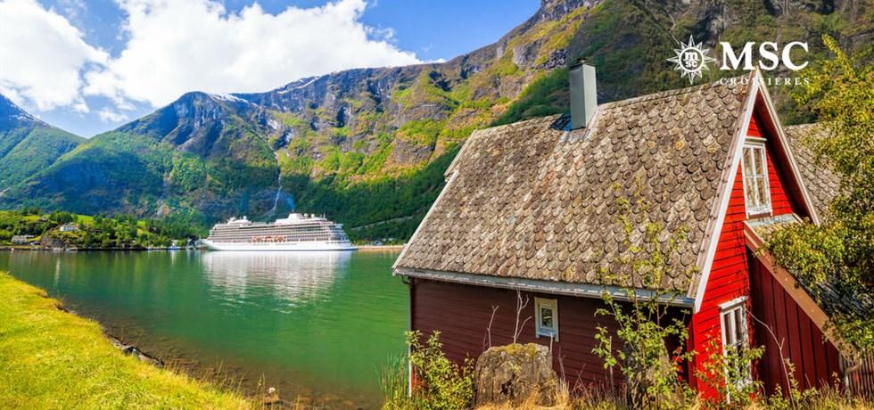 2 Spectacles Cirque du Soleil offerts**  Itinéraire Insolite Fjords de Norvège + Capitales de la Baltique 15 jours A bord du Tout Nouveau MSC Meraviglia 5*