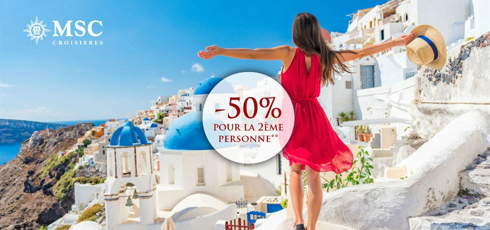 -50% pour la 2ème personne** Croisière 10 jours Iles grecques (Santorini, Mykonos, Corfou), Slovénie, Croatie, Monténégro