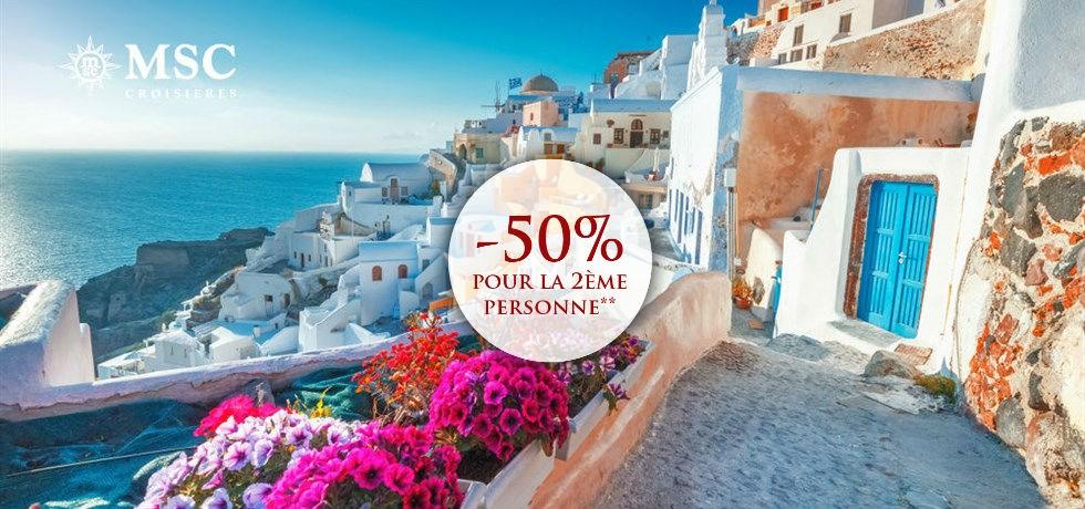 -50% pour la 2ème personne** ! Croisière Iles grecques et Monténégro