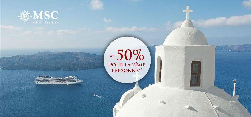 -50% pour la 2ème personne** ! Croisière Iles grecques, Croatie, Albanie