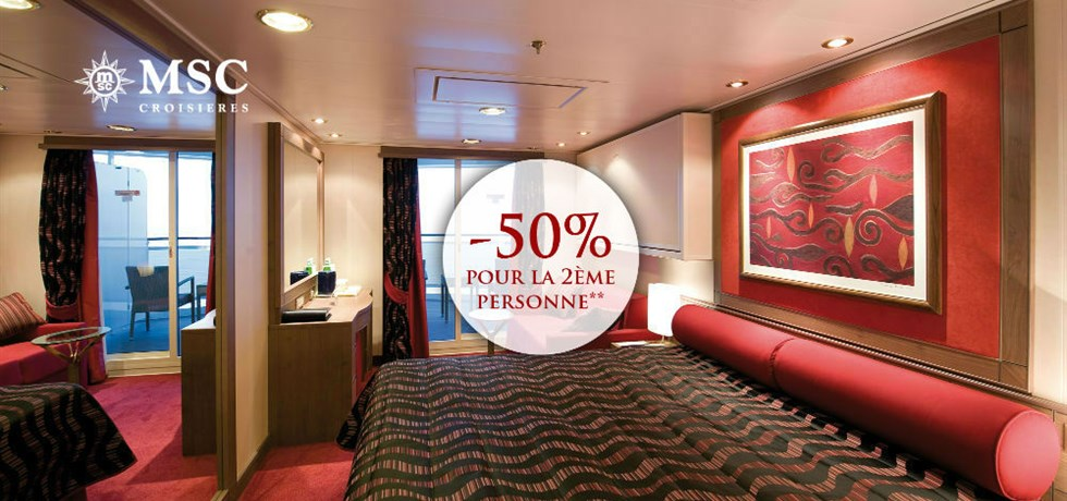 -50% pour la 2ème personne** ! 14 jours Croisière Espagne, Madère, Canaries, Maroc, Italie