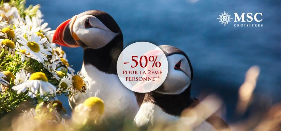 -50% pour la 2ème personne** ! VOLS INCLUS 13 jours Croisière Islande et Norvège