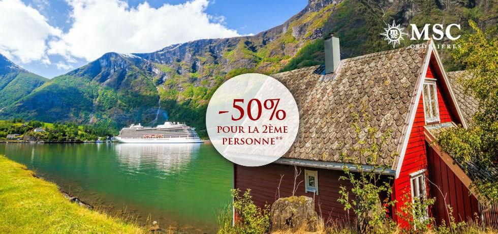 -50% pour la 2ème personne et Cirque du Soleil offert** VOLS INCLUS Fjords de Norvège + Capitales de la Baltique 15 jours A bord du Tout Nouveau MSC Meraviglia 5*