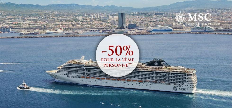 -50% pour la 2ème personne** ! Croisière Italie, Sicile, Sardaigne, Majorque