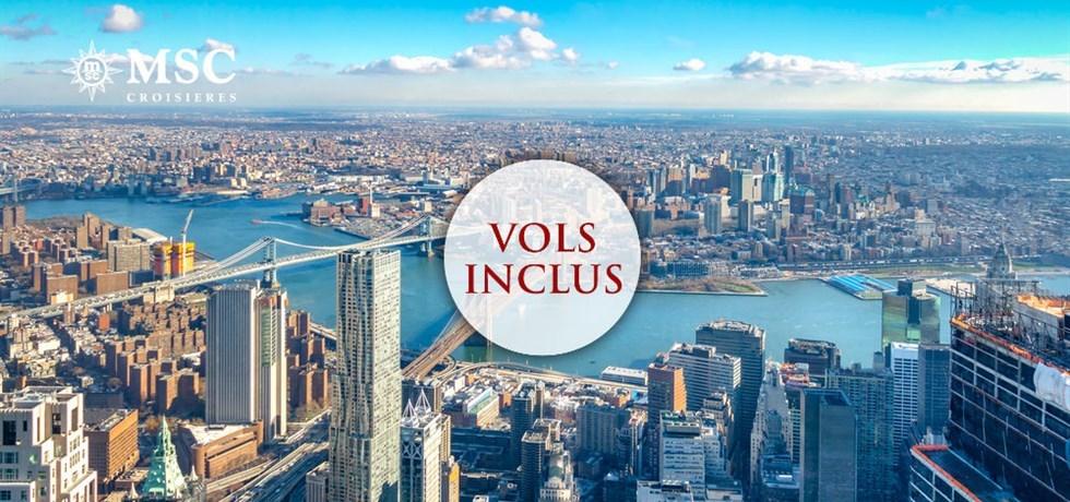 -50% pour la 2ème personne** Vol INCLUS 20 jours Grande Croisiere Etats-Unis (New York), Bermudes, Açores, Portugal, Espagne
