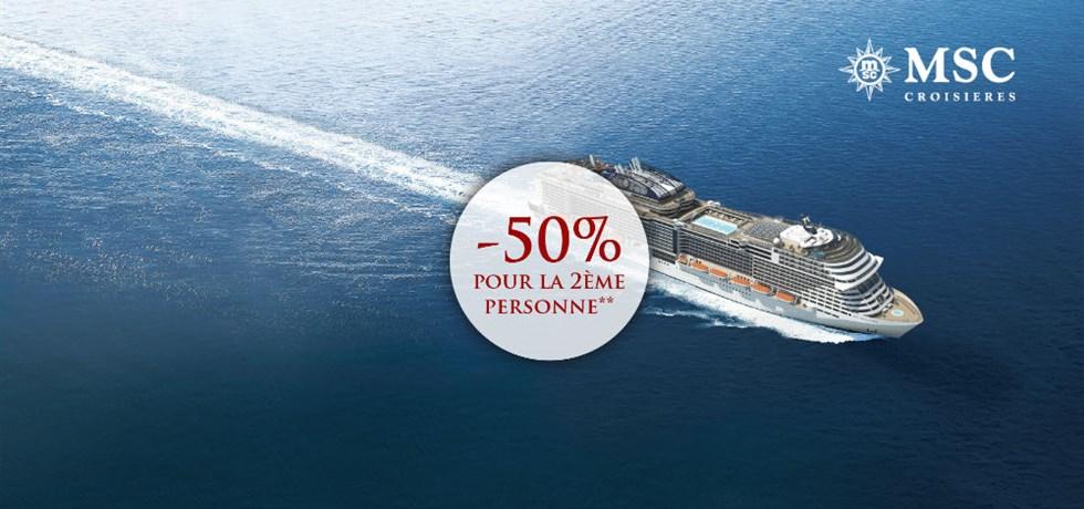 -50% pour la 2ème personne** VOL INCLUS A bord du tout nouveau bateau MSC Bellissima 5* 18 jours Croisière Grèce, Canal de Suez, Jordanie, Oman, Qatar, Emirats