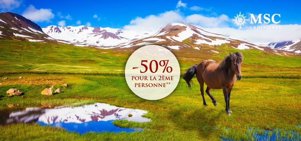 -50% pour la 2ème personne** ! 13 jours Islande et Ecosse
