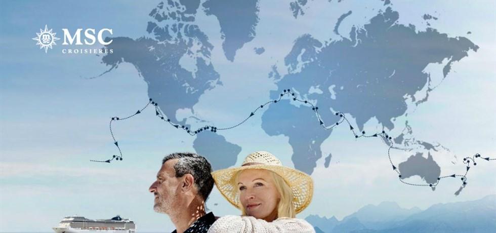 PRE-VENTE OUVERTE POUR LES MEMBRES du MSC Club ! Boissons & 15 excursions offertes*! Tour du Monde 2021 119 jours Marseille/Marseille