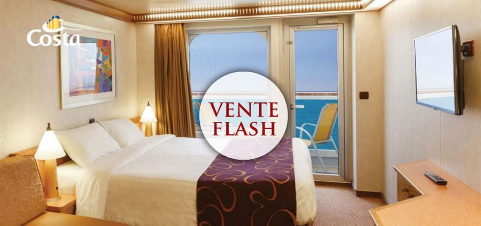 VENTE FLASH ST VALENTIN jusqu'au 19 février ! A bord du Costa Diadema 5* Merveilleuse Méditerranée