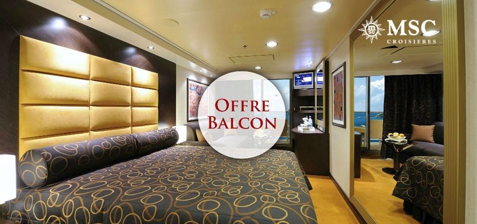 Offre limitée Spécial Balcon** + Remise de 15% jusqu'au 25 mars*** A bord du MSC Fantasia 5* Croisière Majorque, Ibiza, Toscane