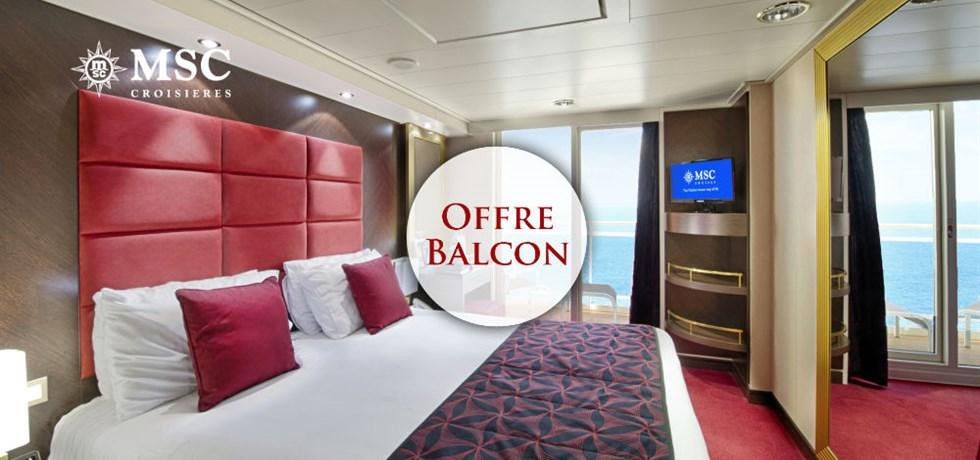 Offre limitée Spécial Balcon** + Remise de 15% jusqu'au 25 mars*** A bord du MSC Divina Croisière Italie, Sicile, Sardaigne, Majorque