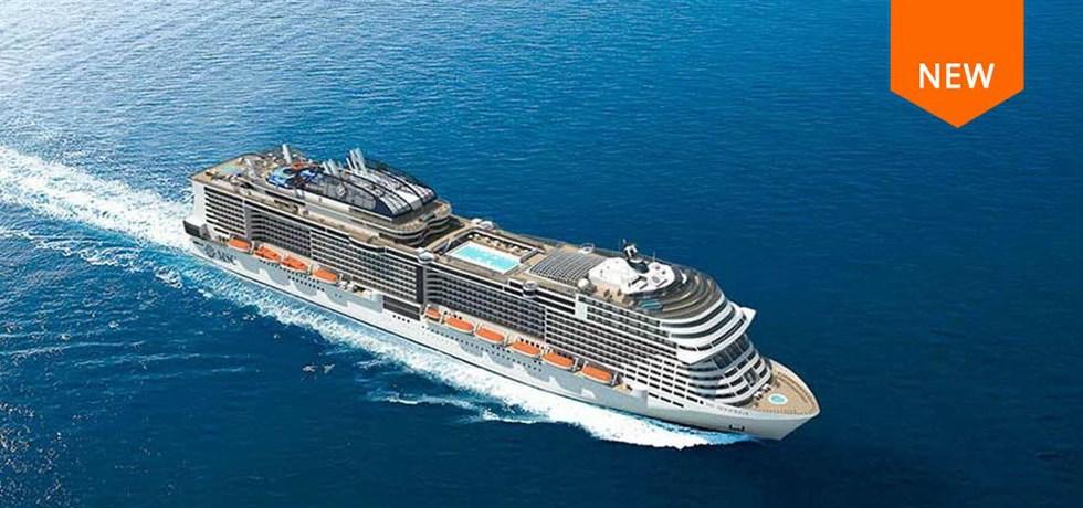 Remise de 15% jusqu'au 25 mars** A bord du tout nouveau bateau MSC Bellissima 5* Croisière Espagne, Italie, Malte