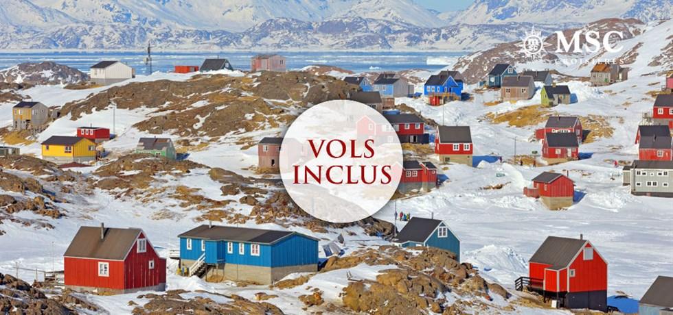 Les meilleurs prix pour l'été ! Offre limitée** Croisière inédite ! VOLS INCLUS 22 jours Islande et Groënland