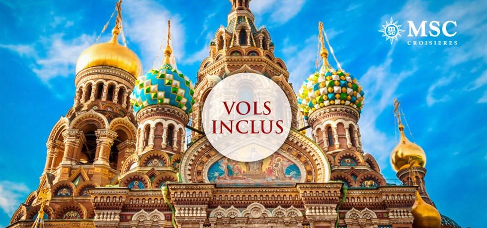 Remise de 15% jusqu'au 25 mars** + Cirque du Soleil offert*** Vols inclus Capitales de la Baltique A bord du Tout Nouveau MSC Meraviglia 5* : Copenhague, Helsinki, St Petersbourg, Tallin