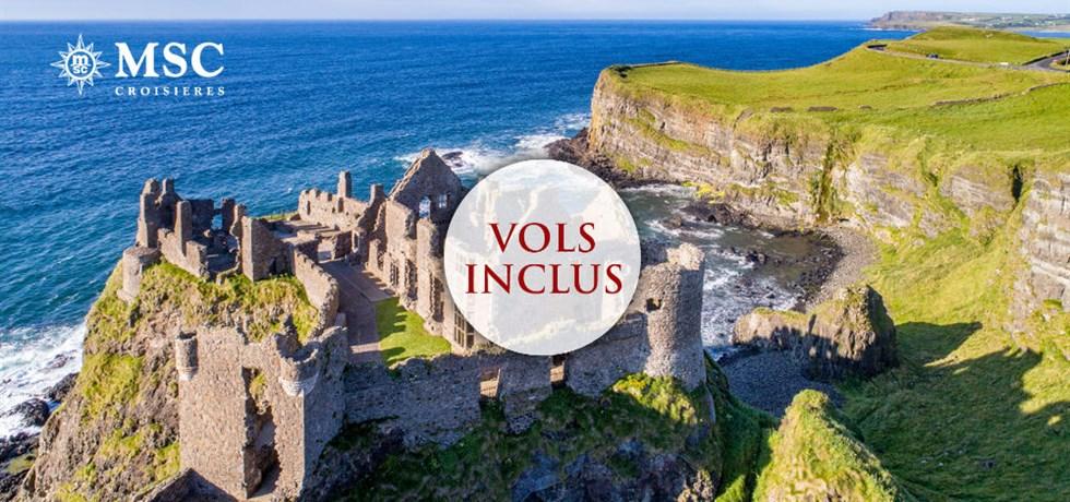 Remise de 15% jusqu'au 25 mars** VOLS INCLUS 11 jours Croisière Irlande et Ecosse