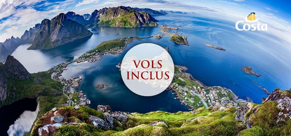 Dès 1259€ VOL INCLUS 12 jours Croisière Fjords de Norvège, Cap Nord et Iles Lofoten