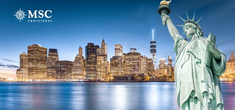 Vol inclus & 1 nuit d'hôtel à Miami offerte ! A bord du MSC Meraviglia 5* Miami, New York, Bermudes, Açores, Portugal, Espagne - Retour au Havre