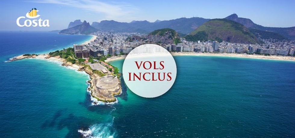 DERNIERE MINUTE Vol inclus 20 jours Transatlantique vers Brésil