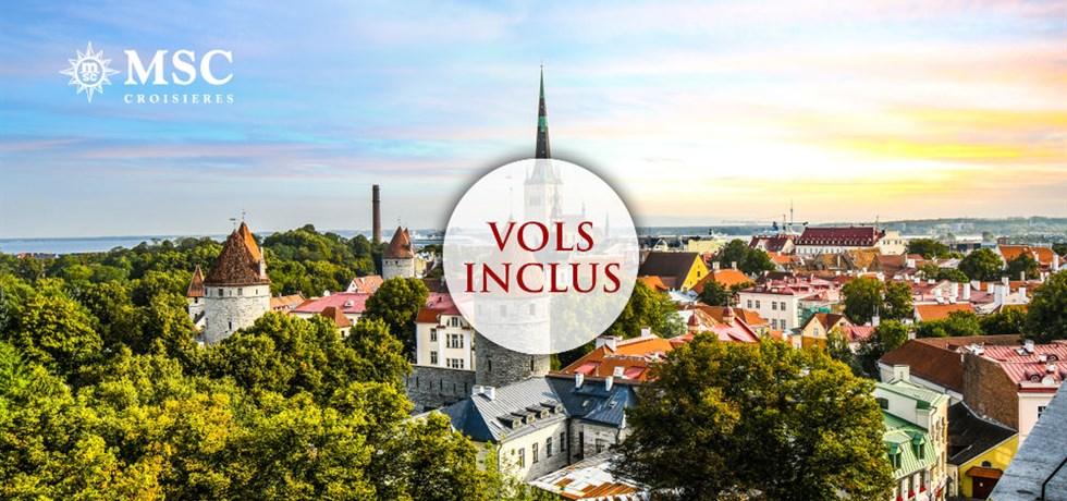 -50% pour la 2e pers. et Boissons aux repas offertes** ! Vols inclus 12 jours Croisière Danemark, Allemagne, Pologne, Lituanie, Lettonie, Estonie, Russie, Finlande, Suède