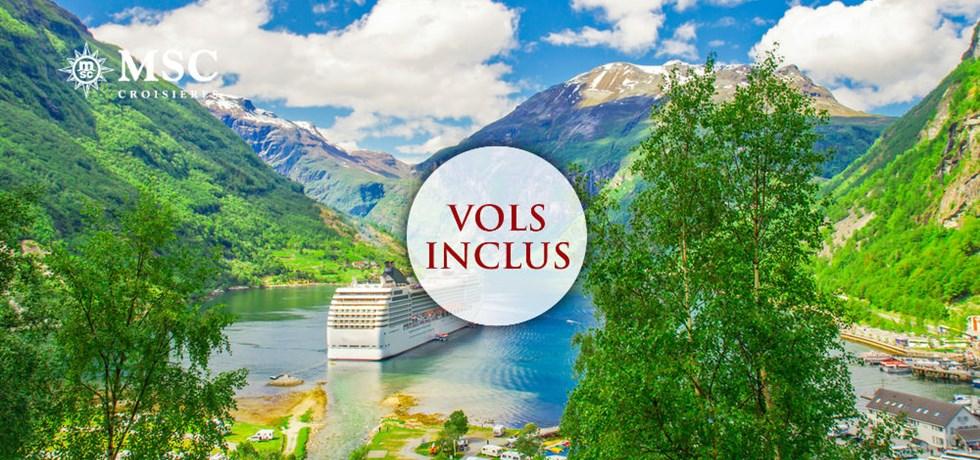 -50% pour la 2e pers. et Boissons aux repas offertes** Vols inclus 12 jours Cap Nord & Fjords de Norvège