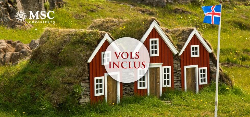 -50% pour la 2e pers. et Boissons aux repas offertes** ! Vols inclus 12 jours Croisière Islande et Écosse
