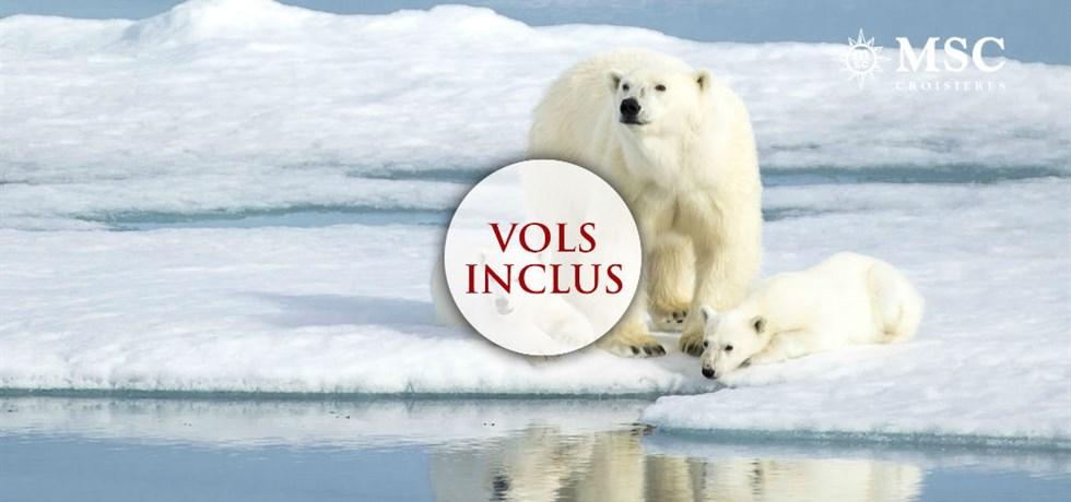 -50% pour la 2e pers. et Boissons aux repas offertes** !  Vols inclus 15 jours Fjords de Norvège, Cap Nord, Svalbard et iles Jan Mayen