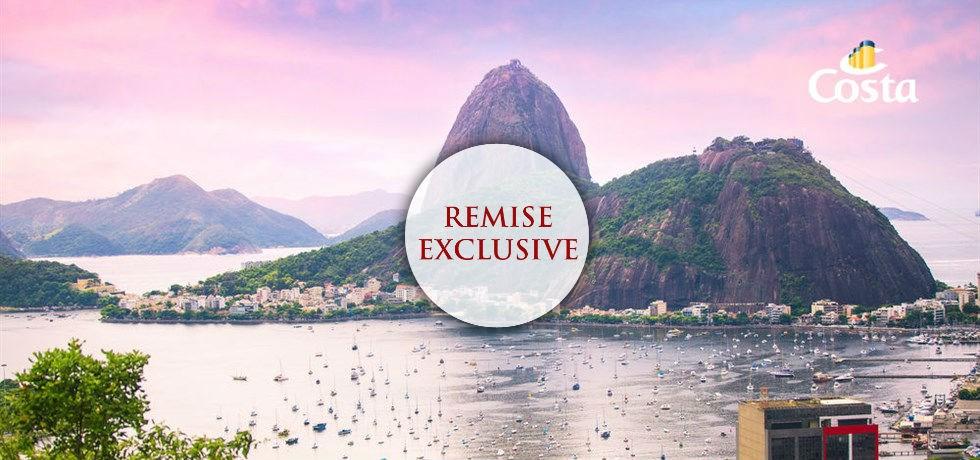 Remise Exclusive** : Vol inclus 21 jours Transatlantique Brésil et Canaries