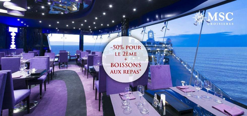 -50% pour la 2e pers. et Boissons aux repas offertes**  Au départ du Havre ! Royaume-Uni, Belgique, Hollande, Allemagne
