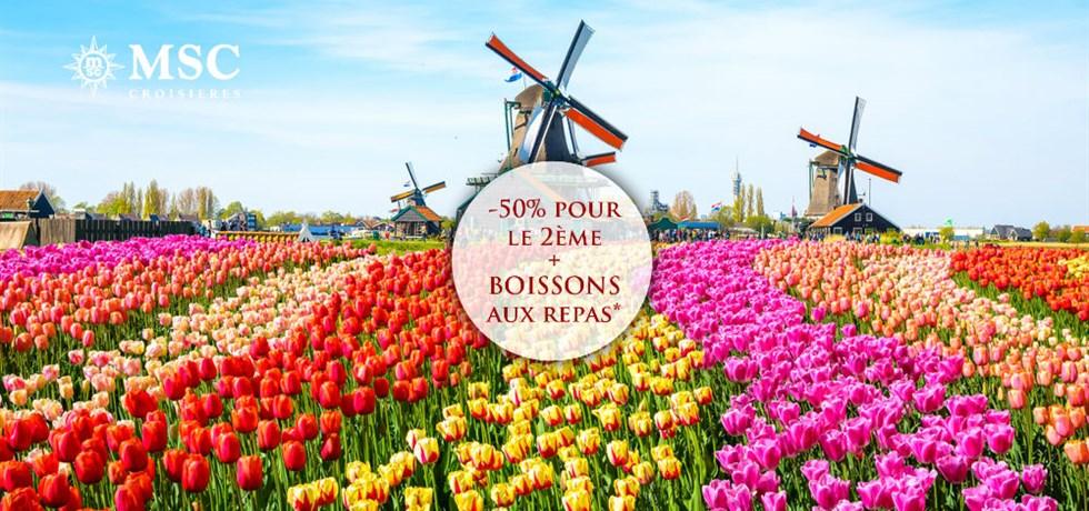 Remise Exclusive jusqu'au 31 Janvier ! Boissons aux repas offertes** Au départ du Havre Belgique, Hollande, Allemagne