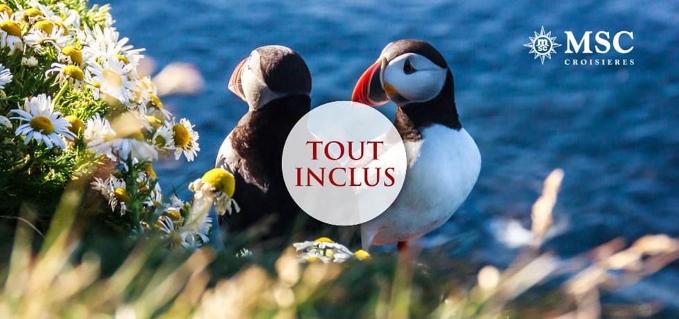 OFFRE TOUT INCLUS: Boissons et services compris** ! Vols inclus 13 jours Islande et Écosse