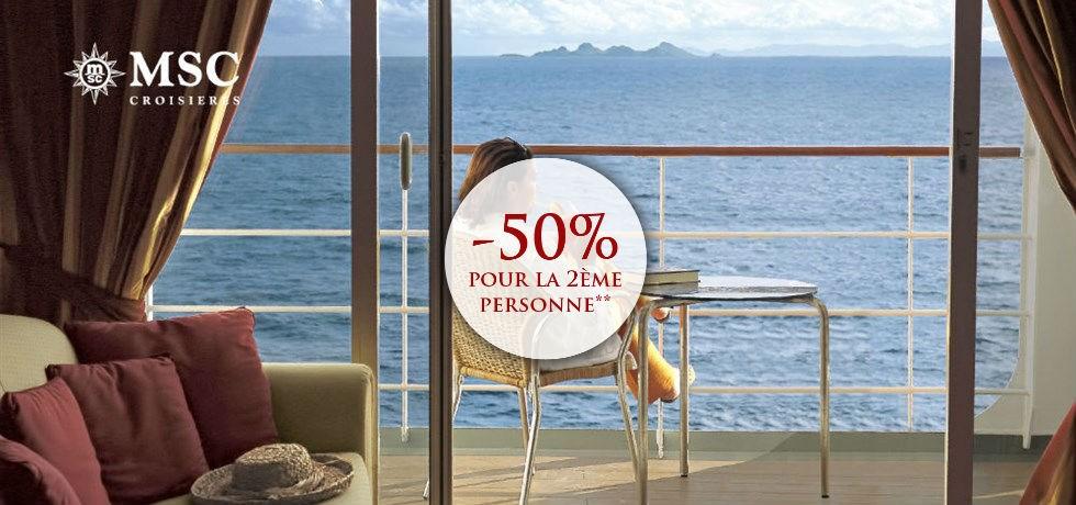 -50% pour la 2ème personne** A bord du MSC Grandiosa 5* Italie, Majorque, Espagne