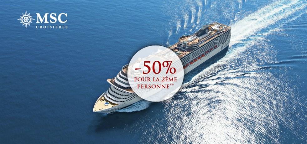 -50% pour la 2ème personne** Espagne, Tunisie, Italie