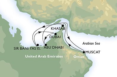 Luxueux Mirages dans le désert - CROISIÈRE AU DÉPART DE ABU DHABI (ÉMIRATS ARABES UNIS)