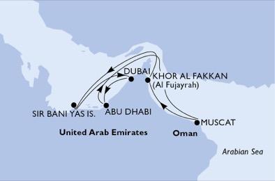 Naviguer dans les fjords du Sultanat - CROISIÈRE AU DÉPART DE ABU DHABI (ÉMIRATS ARABES UNIS)